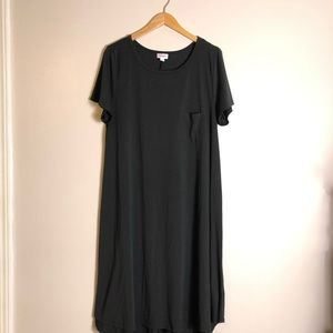Lularoe Plus Size Black Carly Dress